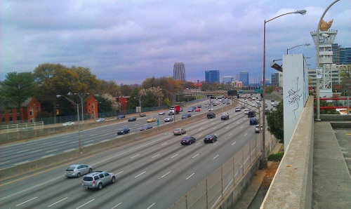 Atlanta Downtown Connector from The Varsity