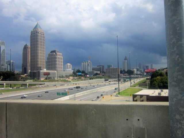 The Atlanta Downtown Connector from the 17th Street Bridge.
