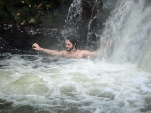 Kerosene Creek, Rotorua, New Zealand, hot springs, waterfall