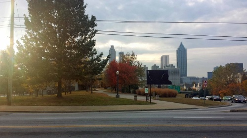 Condesa Coffee, Atlanta, Georgia, skyline