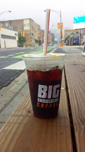 Big Shoulders Coffee, Chicago, iced coffee