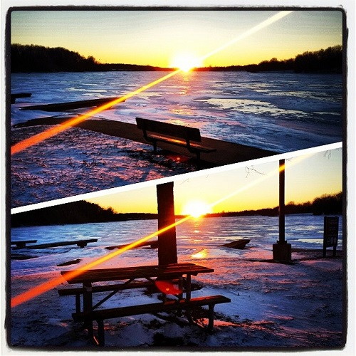 Kensington Park, Michigan, sunset