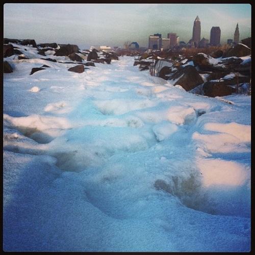Edgewater Park, Cleveland, Ohio skyline