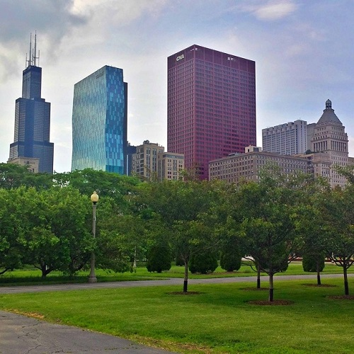 Grant Park, Chicago, Illinois skyline