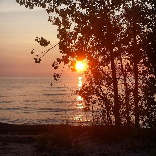 Lake Huron sunrise, Michigan