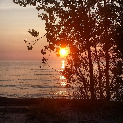 Lake Huron sunrise, Michigan