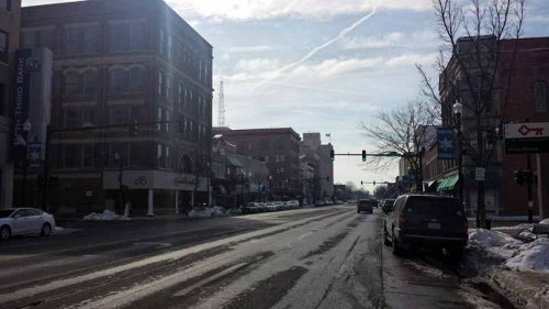 Downtown Findlay, Ohio, winter