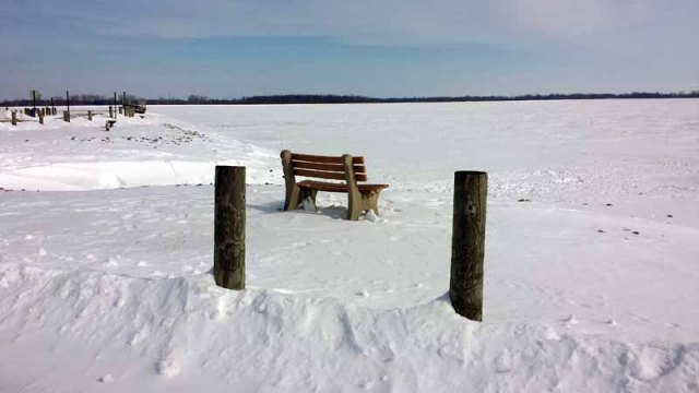 Findlay Reservoir, Ohio, winter