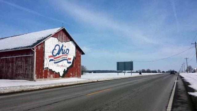 Hancock County, Findlay, Ohio, winter road trip