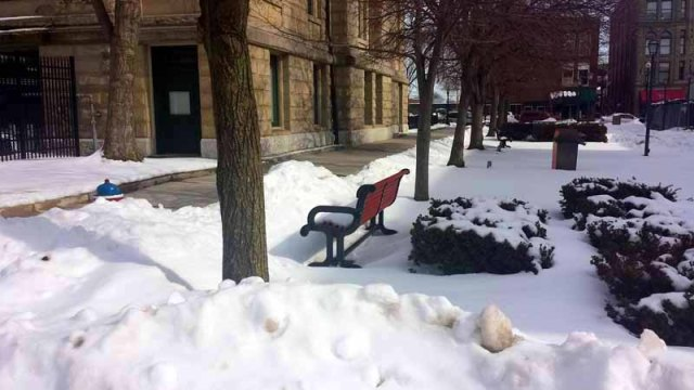 Downtown Findlay, Ohio, winter