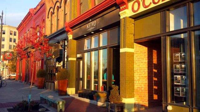 Frifotos - Entrances, Astro Coffee, Corktown, Detroit, Michigan