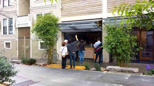 Frifotos - Entrances, Blue Bottle Coffee Kiosk, San Francisco, California