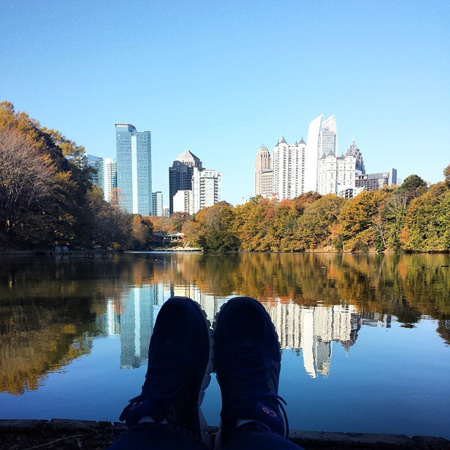 Frifotos - Solitude - Midtown Atlanta Skyline from Piedmont Park