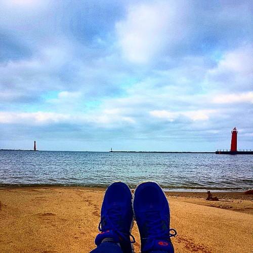Frifotos - Solitude - Pere Marquette Park Beach in Muskegon, Michigan