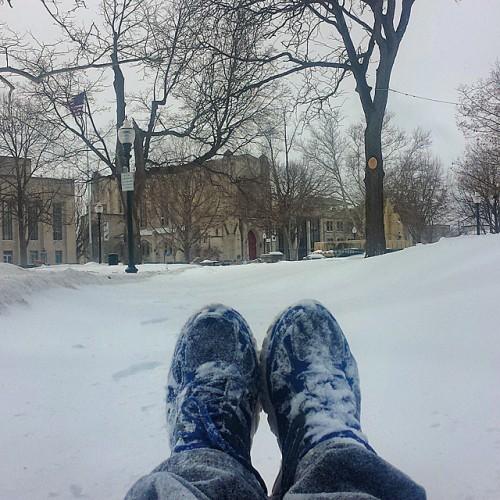 Frifotos - Solitude - Solitude in a Kalamazoo, Michigan blizzard