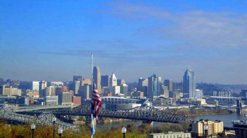 Frifotos, urban skyline, Cincinnati
