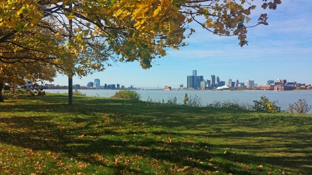 Frifotos, urban skyline, Detroit, Windsor