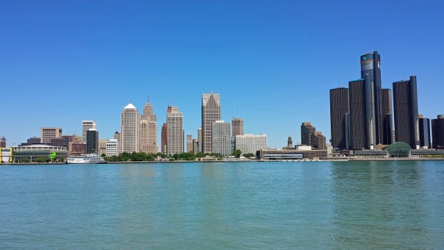 Frifotos, urban skyline, Detroit, Michigan