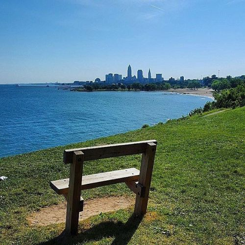 Lake Erie, Edgewater Park in Summer, Cleveland, Ohio