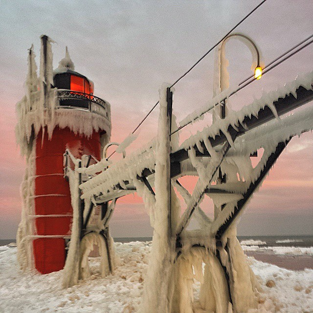 South Haven Lighthouse, Lake Michigan, Michigan