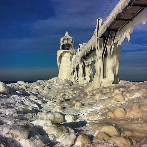 North Pier Lighthouse, St. Joseph, Michigan, Lake Michigan
