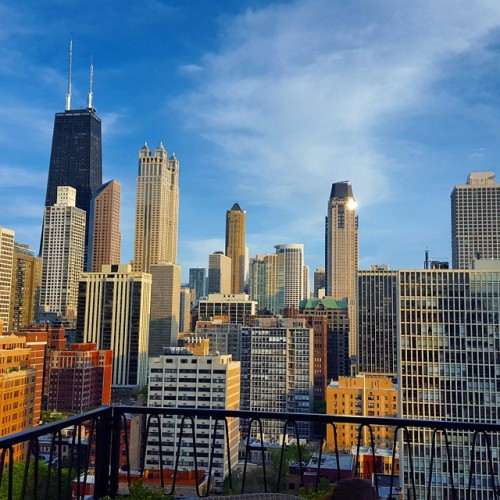 Chicago skyline, up-top the Pump Room