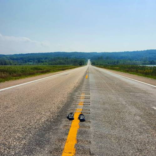 Out on the Open Road on M-22 in Arcadia, Michigan