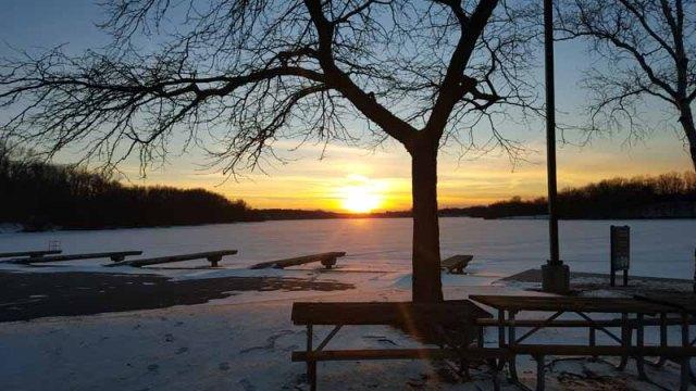 Winter Sunset - Kensington Park, Milford, Michigan