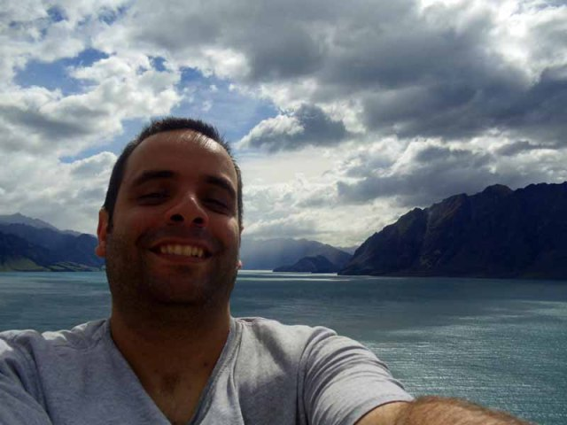Lake Hawea, South Island, New Zealand, elatlboy selfie, The Adventures of elATLboy