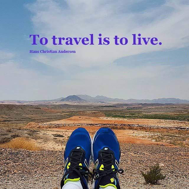 "Travel Quote - ""To travel is to live."""