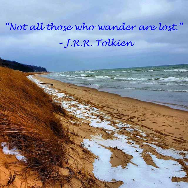 "Travel Quote - ""Not all those who wander are lost."""