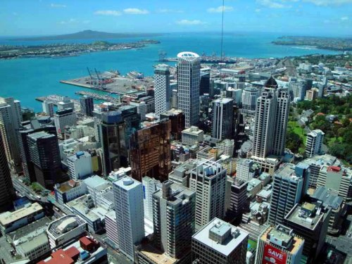 Auckland, New Zealand skyline - from up-top Sky Tower
