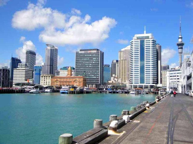 Auckland, New Zealand skyline from Princes Wharf