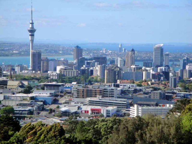 Auckland, New Zealand skyline - from Mount Eden