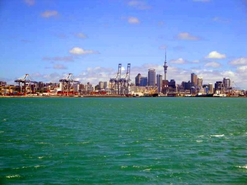 Auckland skyline from Devonport and North Shore
