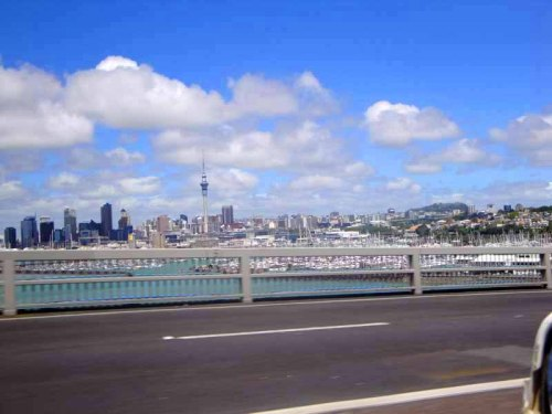 Auckland skyline, Auckland Harbour Bridge