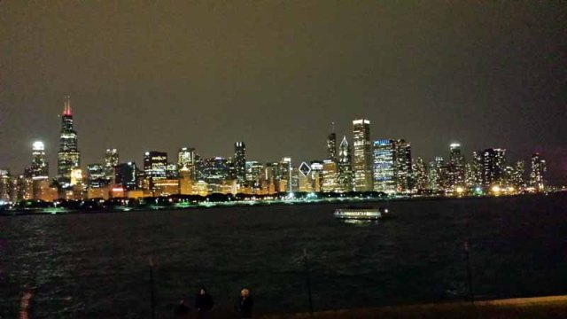 Chicago skyline from Lake Michigan