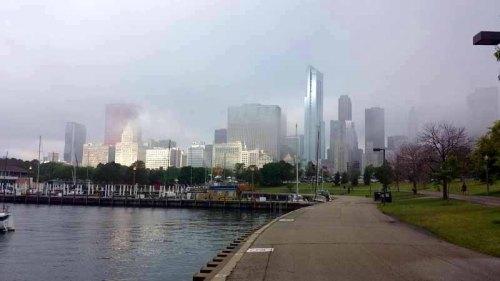 Chicago skyline from Navy Pier