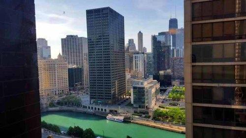Chicago skyline from the Hyatt Regency Chicago