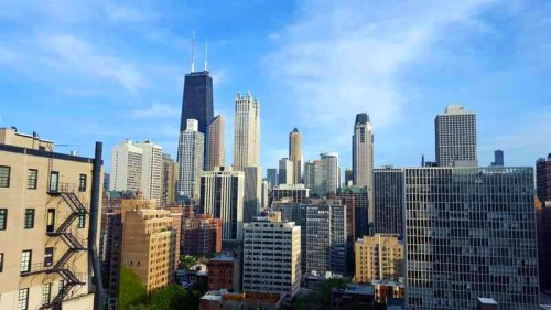 Chicago skyline from the Pump Room