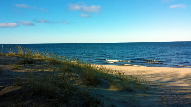 Hoffmaster State Park beach walk along Lake Michigan in Muskegon