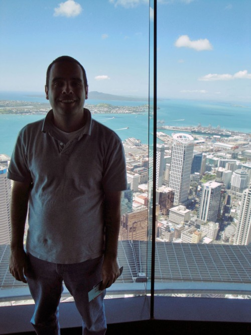 View up-top Sky Tower in Auckland, New Zealand