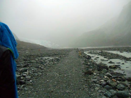 Heading towards the Franz Glacier in New Zealand