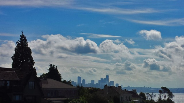 Seattle skyline from the Magnolia neighborhood