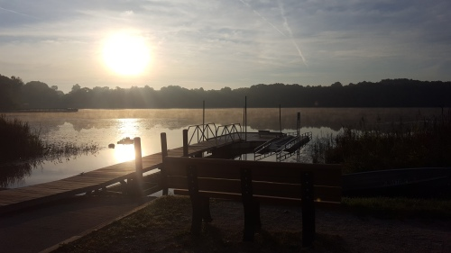 Pure Michigan sunrise, lake, Brighton State Recreation Area
