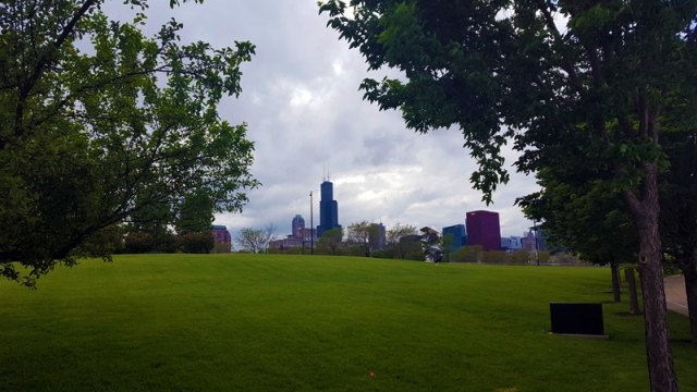 Chicago skyline from Grant Park