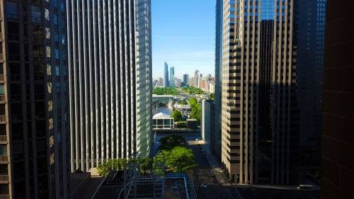 Chicago skyline from Hyatt Regency Chicago
