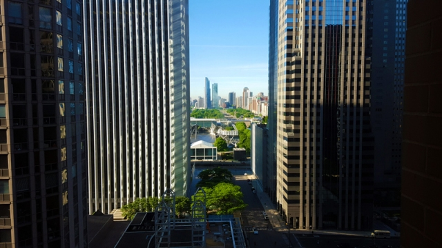 Chicago skyline from Hyatt Regency Chicago