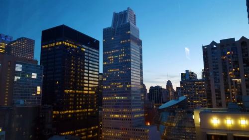 Chicago skyline from the 26th floor and Vertigo Sky Lounge