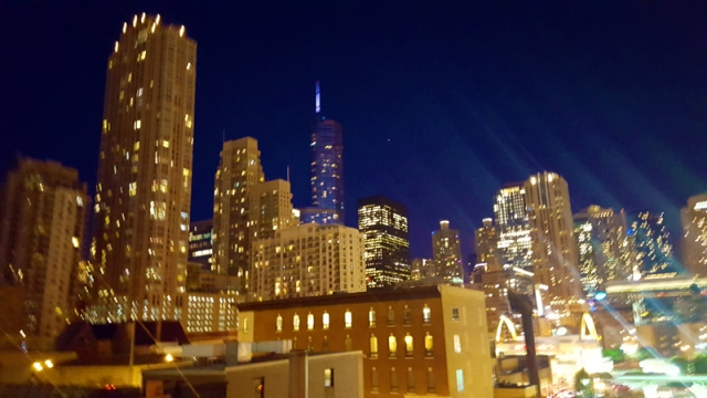 Chicago skyline from up-top The Godfrey Hotel